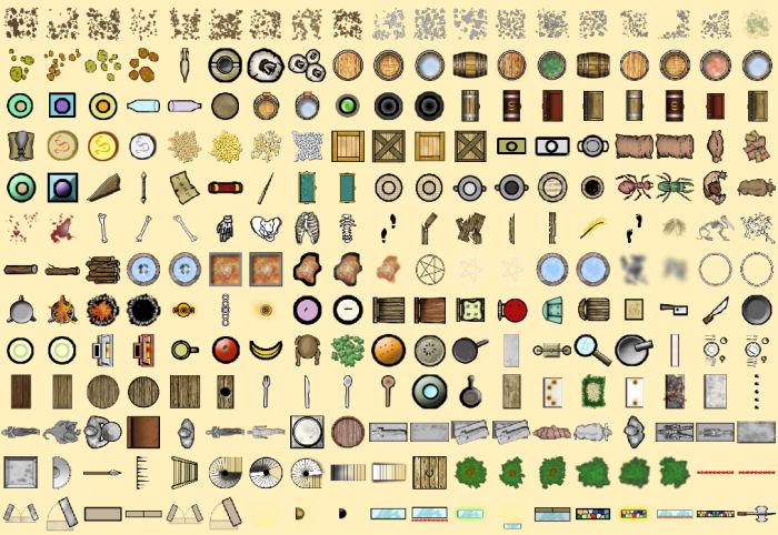 Profantasy Software Symbol Set 2 Fantasy Floorplans