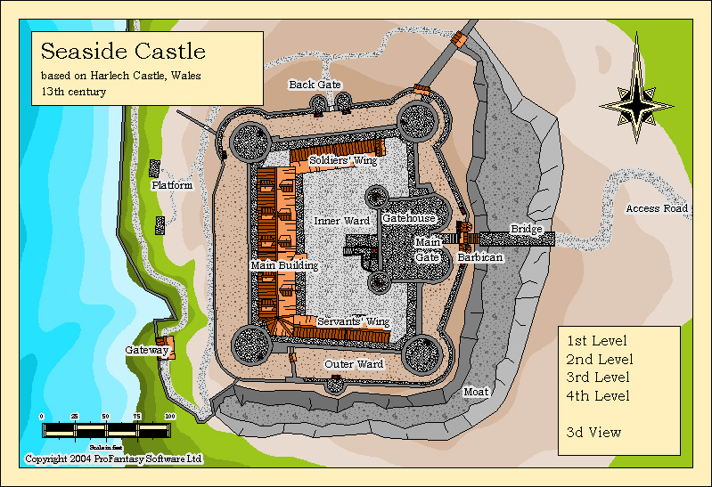 maps castles castle profantasy map plan 3d pro smc source floor strongholds surroundings cc3 powerful included designer software