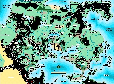 Superior World Of Greyhawk Map